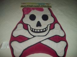 NWT Mohawk Home Memory Foam Pink/White Pirate Skull and Cros