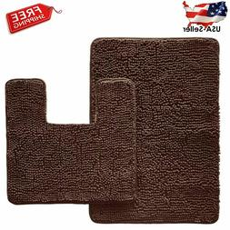 Original Shaggy 2 Piece Area Rug Set, Contour Toilet Mat & 3