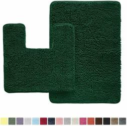 Gorilla Grip Original Shaggy Chenille 2 Piece Area Rug Set,