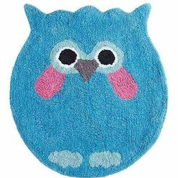Grand Bazaar Owl Shaped Blue Cotton Bath Rug, 20 inch x 34 i