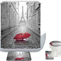 Amagical Paris Eiffel Tower Under Red Umbrella Decor 16 Piec