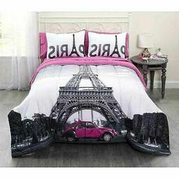 Casa Photo Real Paris Eiffel Tower Bed in a Bag Bedding Set,
