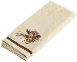 pine cone silhouettes hand towel designed by