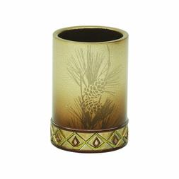 Bacova Guild Pine Cone Silhouettes Tumbler Designed by Cynth