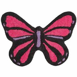 Grand Bazaar Pink & Purple Butterfly Shaped Bath Rug, 20 in
