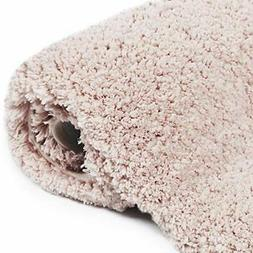 NORCHO Pink Water Absorbent Bath Rug Non-Slip Rubber Shaggy