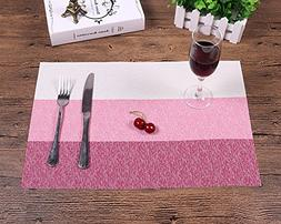 Place mats,Famibay Heat Insulation PVC Placemats Stain-resis