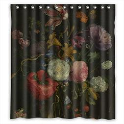 SUNSMILES Polyester Bath Curtains Of Famous Classic Art Pain