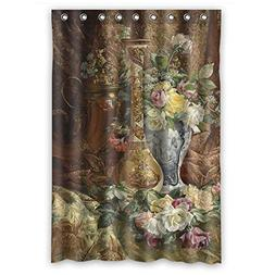 SUNSMILES Polyester Christmas Shower Curtains Of Famous Clas
