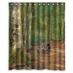 SUNSMILES Polyester Beautiful Scenery Landscape Painting Chr