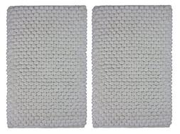 Cotton Craft - 2 Piece Popcorn Loop Bath Mat Rug Set - 17 x