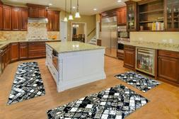 Print Bath Mat 3PCS/Set Pattern Floor Mat Kitchen Area Rugs