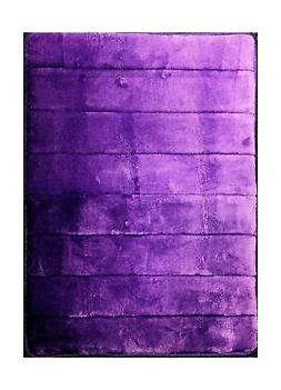 Purple- Incredibly Soft and Absorbent Memory Foam Bath Mat,