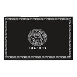 RARE!!VERSACE345 White Logo Beauty Bath Door Mat Area Rug Li