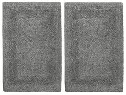 Cotton Craft 2 Piece Reversible Step Out Bath Mat Rug Set 21