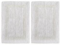 Bath Rugs Mat 2 Piece Cotton Bathroom Floor Soft Large Thick