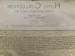 Hotel Collection Reversible Bath Rug 2-Pc Set Ivory Linen 10