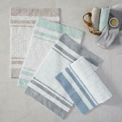 Reversible Bathroom Rug 3 Sizes Spa Style Stripe Absorbent P