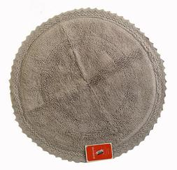 "Round Bath Rug 100% Cotton - 24""x24"" - Gray - Opalhouse - NW"