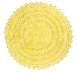 """DII 28"""" Round Bath Tub Rug 100% Cotton Woven  Soft Absorbent"""