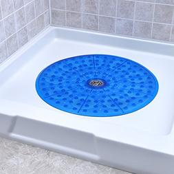 Round Shower Mat  in Blue by SlipX Solutions