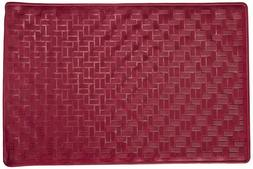 Rubber Bath Tub Mat, 13 x 20.5, Burgundy