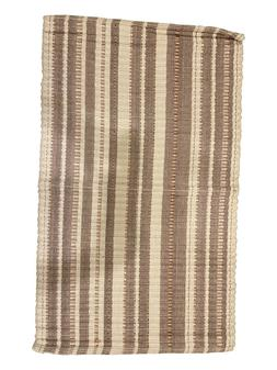 Set of 2 Cotton Bath Rug Weaved, Bath Mat, Beige Color, Coil