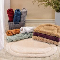 set of 2 oval bathroom rugs many