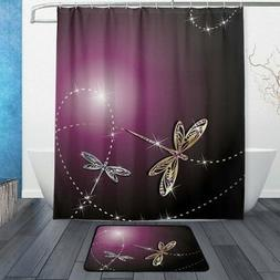 ALAZA Set of 2 Shiny Dragonfly 60 X 72 Inches Shower Curtain