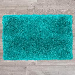 Nestl Bedding Shaggy Bath Rug with Non-Slip Backing Rubber -