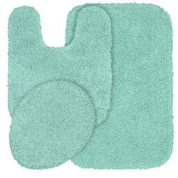 Shaggy Bath Rug Bathroom Set Floor Toilet Contour Lid Cover