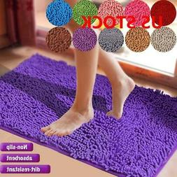 Shaggy Microfiber Soft Bathroom Rug Shower Bath Mats Non-Sli