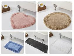 Better Trends Shaggy Ruffle Border 100% Cotton Bath Rug Mat