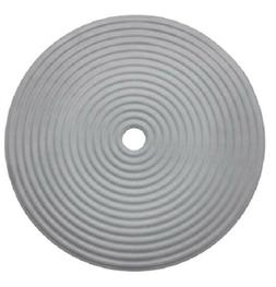 "IKEA Shower Mat Round 18"" GRAY Doppa Bath Non-slip Rubber NE"