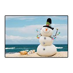 Snowman Door Mats for Home Winter Vacation Holiday Theme Sno