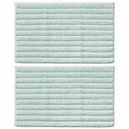 "mDesign Soft Cotton Ribbed Mat Rug for Bathroom - 34"" x 21"""
