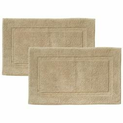 "mDesign Soft Cotton Spa Mat Rug for Bathroom - 34"" x 21"", 2"