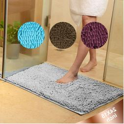 24*15 Microfiber Shaggy Non Slip Bath Mat Absorbent Bathroom