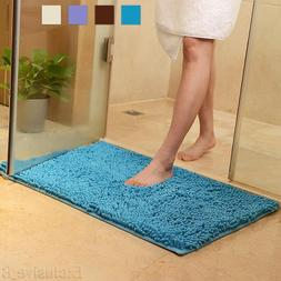 Soft Microfibre Shaggy Non Slip Absorbent Bath Mat Bathroom