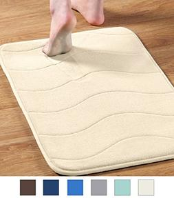 Soft Microfiber Memory Foam Bath Rug Extra Absorbent and Com