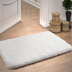 "Lifewit 20"" x 32"" Soft Shaggy Bath Mat Non-slip Rubber Bathr"
