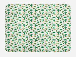 Ambesonne Southwestern Bath Mat by, Cactus Pattern with Agav
