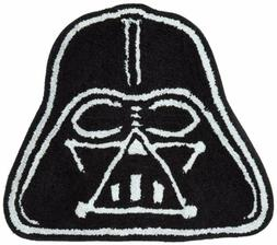 Star Wars Disney Black Darth Vader Soft Shaped Bathroom Mat/