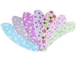 Set of 6 Floral Toilet Mats Paste-style Sitting Cushions, Ra