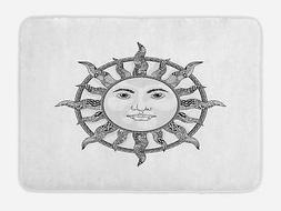 "Sun Bath Mat Bathroom Decor Plush Non-Slip Mat 29.5"" X 17.5"""