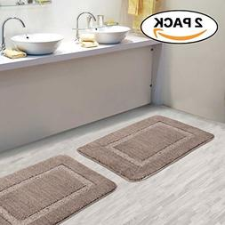 Super Soft 100% Microfiber Bath Mat 2 Pack Tufted Bathroom R