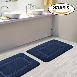 Extra Absorbent 100% Microfiber Bath Mat Rug Set Super Soft