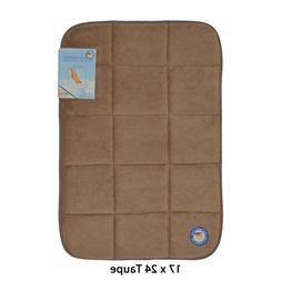 Taupe Memory Foam Bath Mat/area rug: Non-skid, Absorbent, 17