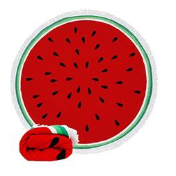 Genovega Thick Round Beach Towel Blanket - Cute Funny Fruit
