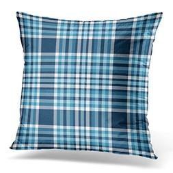 UPOOS Throw Pillow Cover Green Tartan Plaid Pattern Checkere